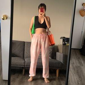 NWT NOIZE sakura pink oversized joggers L/XL